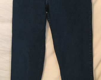1980's  1990's Gitano High Waisted Denim jeans Very Dark Blue (Indigo)