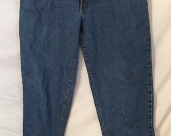1980's 1990's Vintage Levi's 550 Relaxed Tapered Denim jeans size 14M with ankle tassels