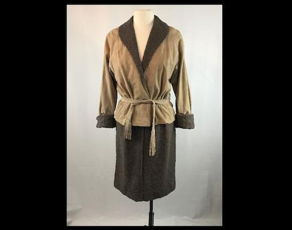 Vintage Bonnie Cashin Leather Jacket and Skirt Set