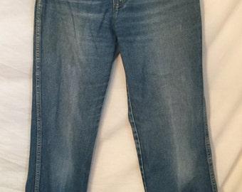1980's Calvin Klein High Waisted Denim jeans size 10 Vintage Wash