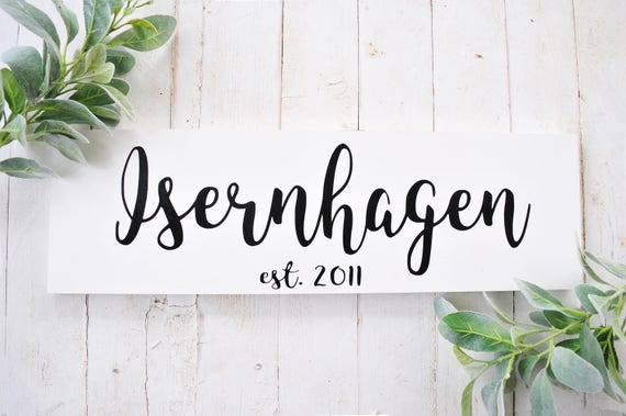 Last Name | Family Name Sign | Wood Sign | Established | Anniversary | Wedding Date | Year | Home Decor | Name Sign | Script | Personalized
