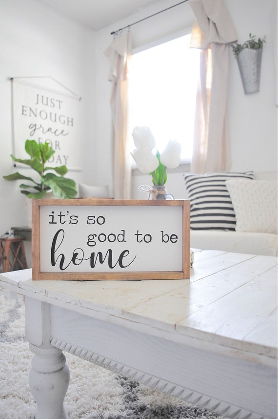 Its So Good To Be Home | Wood Sign | Home Decor | Framed | Script | Typewriter | Home | Farmhouse | Rustic