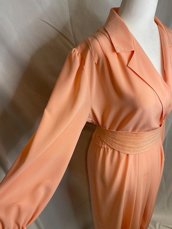 60s Lilli Ann petite peachy pink pleated shirt dr… - image 6