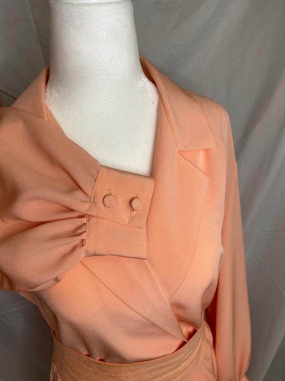 60s Lilli Ann petite peachy pink pleated shirt dr… - image 3