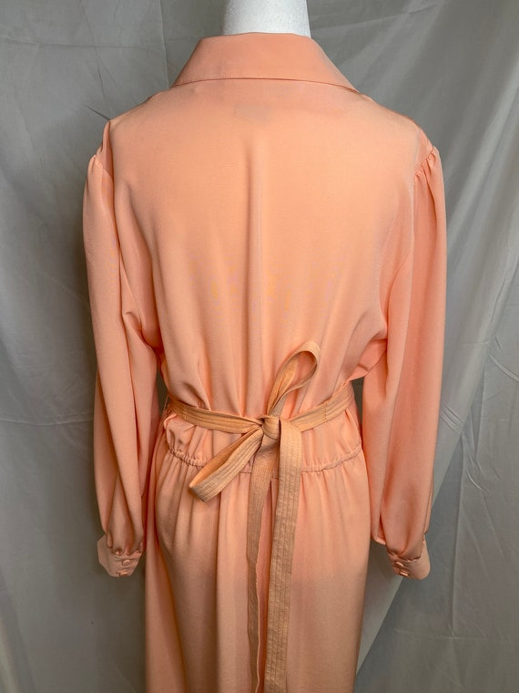 60s Lilli Ann petite peachy pink pleated shirt dr… - image 9