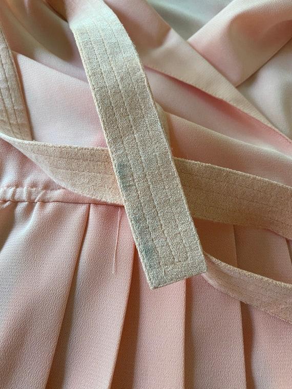 60s Lilli Ann petite peachy pink pleated shirt dr… - image 10