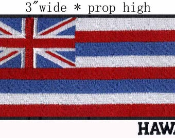 State Of Hawaii Flag Iron On Patch 3 X 1 2 Inch Free Shipping Medium