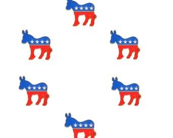 10 Pieces Democrat Donkey Lapel Pin 28mm Hat Tie Tack Badge Politics