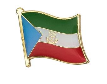 EQUATORIAL GUINEA Africa Country Metal Flag Lapel Pin Badge