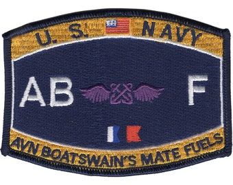 ae5c44f5855a US Navy Aviation Boatswain's Mate Fuels ABF Rating Patch 4 1/2
