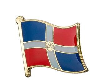 Sweden Wavy Flag Rhodium Plated Tie Clip in Gift Box