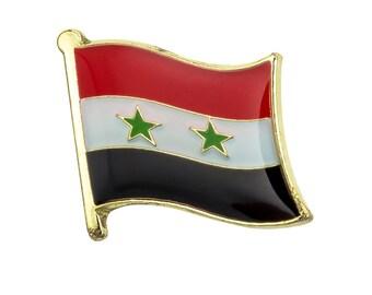 Syria Flag Lapel Pin 19 x 16mm Hat Tie Tack Badge Pin Free Shipping