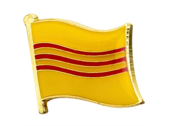 Vietnam Country Flag Enamel Pin Badge