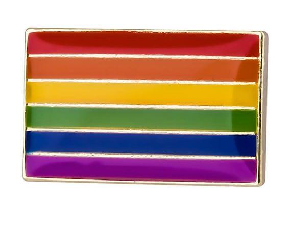 Rainbow Gay Lesbian Pride Flag Metal Enamel Pin Badge LGBT Equality Symbol New