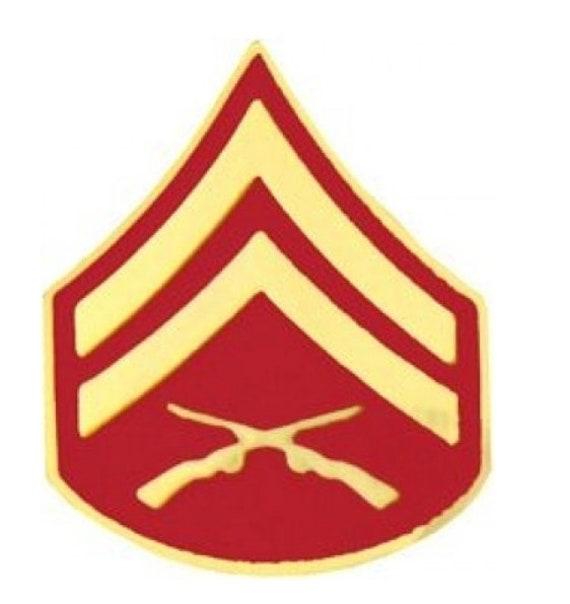 Pair of USMC Marine Corps E-4 Corporal Rank Insignia Pin Black Metal CPL.