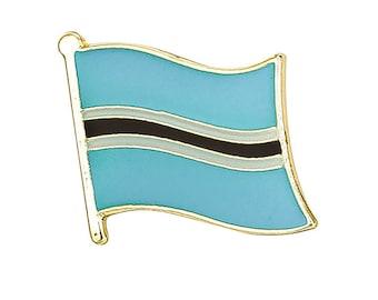 Botswana Flag Lapel Pin 19 x 16mm Hat Tie Tack Badge Pin