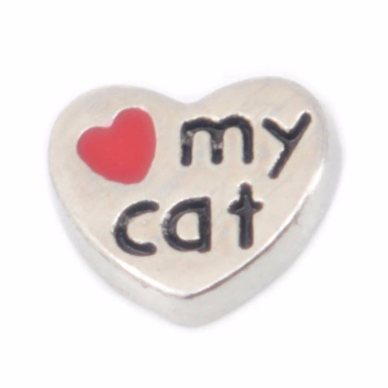 Love My Cat Floating Charm for Glass Memory Locket FC23-1 Charm