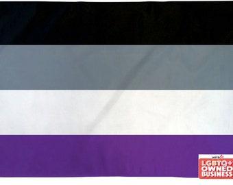 Asexual Pride 2' x 3' or 3' x 5' Flag LGBTQ Pride Flag Waterproof Indoor/Outdoor Flag