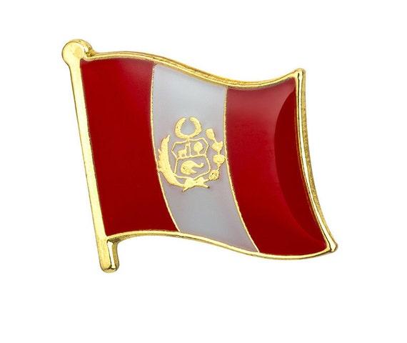 """Peru Flag Patch 2 1//2/"""" x 3 1//2/"""""""