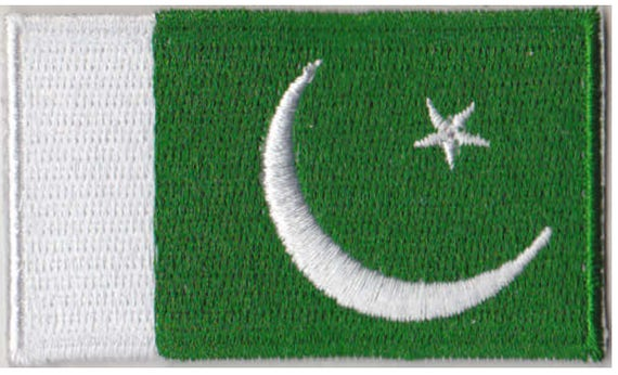 Small Pakistan Flag Iron On Patch 2.5 x 1.5 inch Free Shipping