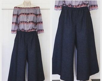 Addison wide leg crop pants