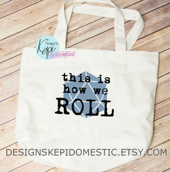 d5c3d2c2fe49 Tote bag DnD How we roll