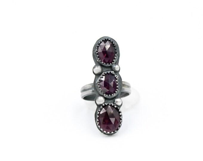 Garnet Ring Size 7 1/2