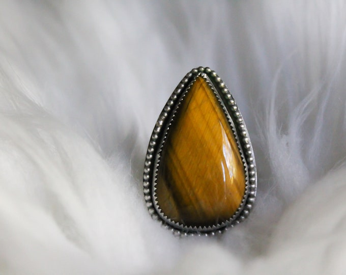 Tiger Eye Statement Ring