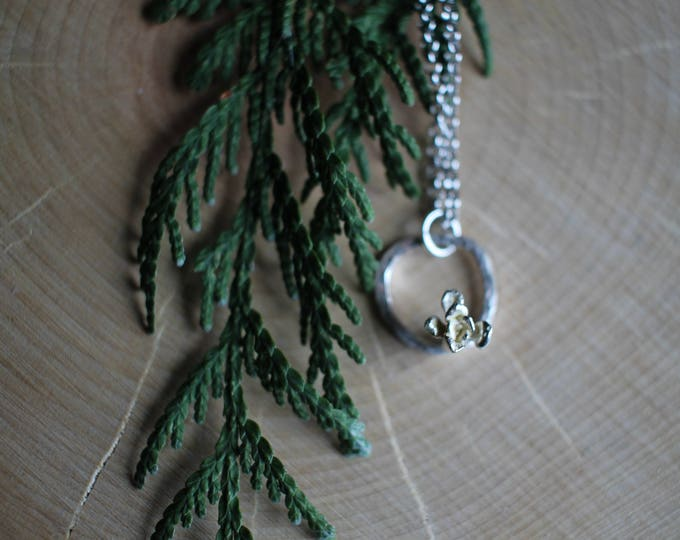 Small Succulent Hoop Necklace