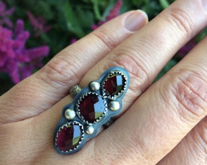 Garnet Ring Size 6 1/2