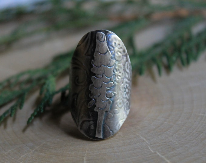 Lupine Saddle Ring size 8