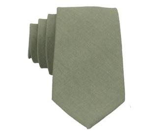 Sage Green Ties. Sage Linen Neckties. Sage Green Wedding Ties. Solid Sage Ties for Men. Groomsmen Ties. Dusty Sage Green Neckties.