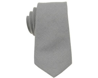Men DARK GRAY Skinny Slim Zip Up Neck Tie