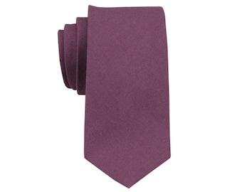 Mauve Linen Tie.Mauve Wedding Necktie.Dusty Purple Groomsmen Tie. Mens Skinny Tie.Favors.Gifts
