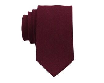 fbfafc038839 Maroon Linen Ties.Solid Maroon Skinny Tie. Mens Neckties Maroon.Wedding  Necktie. Groomsmen Ties.Standard or Extra Long