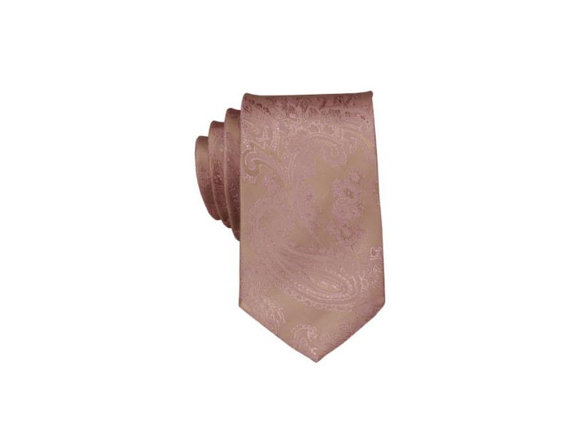 Desert Coral Ties for Men Pink Gold Silk Paisley Ties for Groomsmen Rose Gold Ties for Men Groom Ties . Rose Gold Wedding Neckties