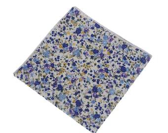 Floral Pocket Square.Floral Handkerchief. Cotton Floral Prints.Wedding Gifts.