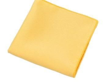 Lemon Yellow Pocket Square. Mens Pocket Square.Yellow Wedding Handkerchief.