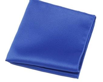 Royal Blue Pocket Square Silk Handkerchief.Wedding.Mens Pocket Square