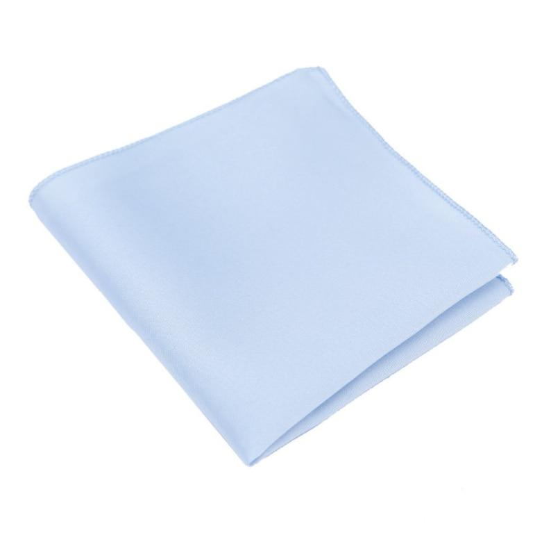 Light Blue Solid Silk Pocket Square Mens Pocket Squares.Blue Wedding Princess Blue Pocket Square