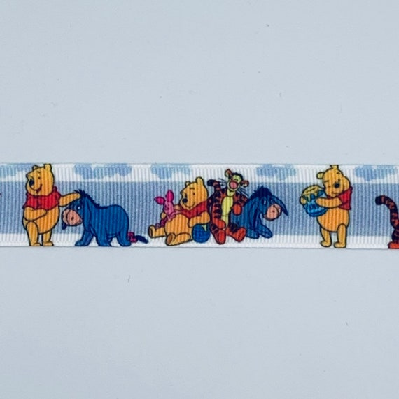"7//8/"" 2YARDS Winnie Pooh Grosgrain Ribbon Tigger Crafts Cards Hair Bow Gift Wrap"