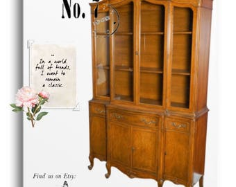 Exquisite French Provincial China Cabinet, By John Stuart//french Country// China Hutch//breakfront//kitchen//dining