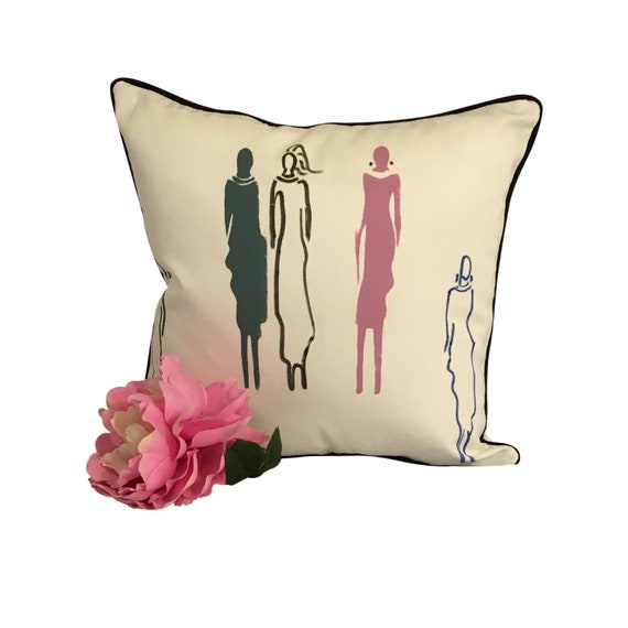 Pillow Cover Gift for Woman, Hand Painted Throw Pillow, Women of Truth Pillow