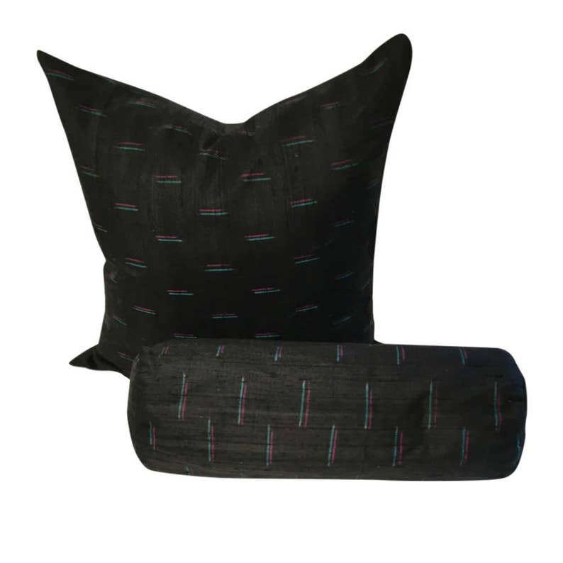 Pleasant Black Silk Pillow Cover Black Indian Silk Pillow With Colors Dupioni Silk Throw Pillow Black Couch Pillow In 16X16 18X18 20X20 Dailytribune Chair Design For Home Dailytribuneorg