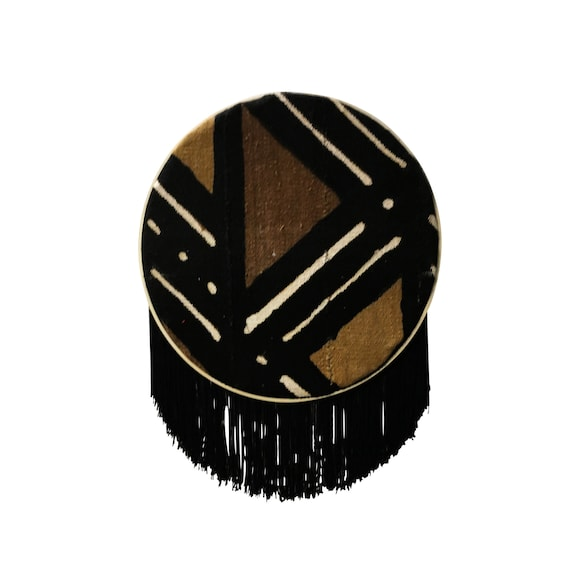 African Mudcloth Wall Hanging Geometric Wall Art for Living Room, African Fabric Wall Hanging, Mud Cloth Décor