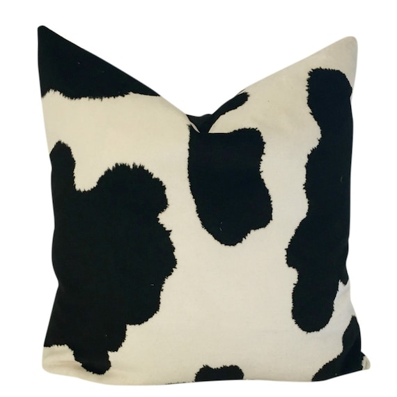 Cowhide Pillow Cover, Cowhide Pillow, Sofa Pillow Cover Large, Sofa Pillow  Covers Set, Pillow Covers 20x20, Black and White Pillow Cover