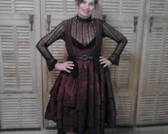 Red taffeta party dress
