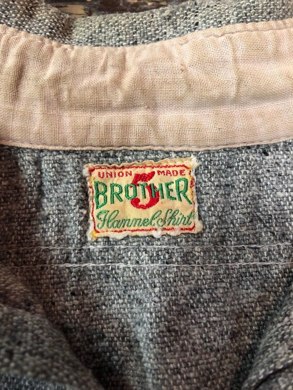 1930's union made 5 brother flannel work shirt
