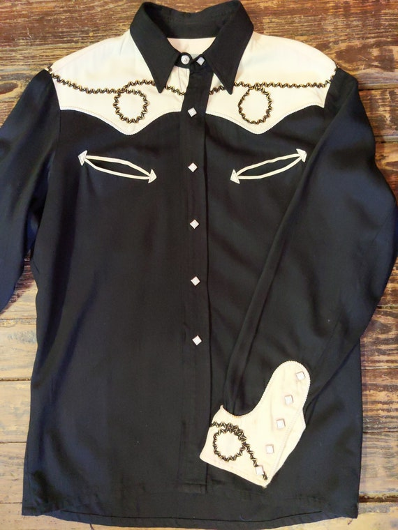 1950's Westmount Gabardine Western Shirt