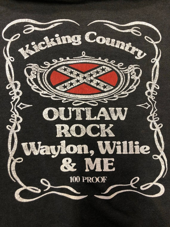 Vintage 1980's outlaw country willie Nelson waylon